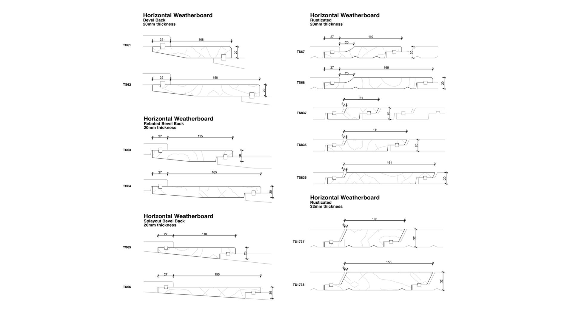 TS-Profiles horizontal weatherboard